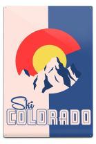 Lantern Press Ski Colorado, Colorado 82318 (6x9 Aluminum Wall Sign, Wall Decor Ready to Hang)