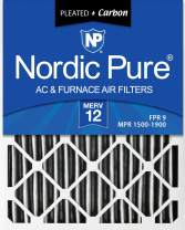 Nordic Pure 18x30x1 MERV 12 Pleated Plus Carbon AC Furnace Air Filters, 3 PACK, 3 Piece
