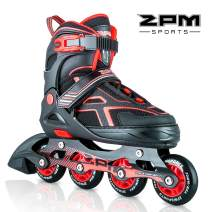 2PM SPORTS Torinx Orange/Red/Green Black Boys Adjustable Inline Skates, Fun Roller Blades for Kids, Beginner Roller Skates for Girls, Men and Ladies