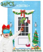 Funnlot Grinch Christmas Games Pin The Bulb On The Grinch Christmas Pin Game Xmas Activities Grinch Party Supplies Grinch Party Decorations Christmas Party Games for Kids