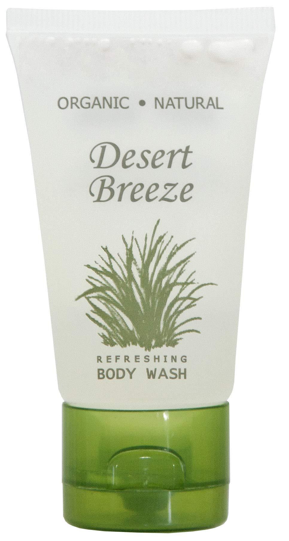 Desert Breeze Body Wash, Travel Size Hotel Toiletries, 1 oz Flip Cap (Case of 300)