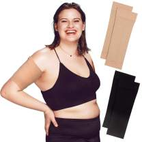 Arm Shapers For Women - Upper Arm Compression Sleeve To Help Tone Arms - Slimming Arm Wraps For Flabby Arms - Helps Shape Upper Arms Ideal For Plus Size Women - 2 Pairs ( Black + Beige )