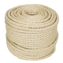 Twisted Sisal Rope (3/4 Inch, 10 Feet) - Decor, DIY Projects, Scratching Post, Marine, Tie-Downs, Wicker Chair