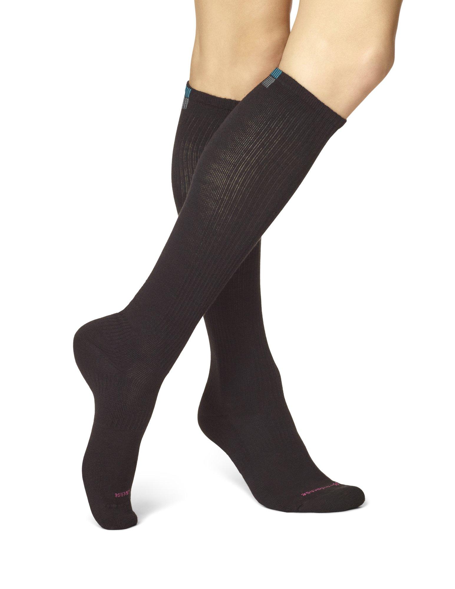 No Nonsense Women's Feel Good Compression Knee High Sock