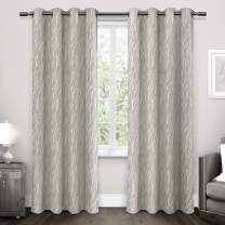 """Exclusive Home Curtains Forest Hill Panel Pair, 96"""" Length, Dove Grey"""