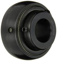 "Sealmaster 3-211 Bearing Insert, Medium Duty, Setscrew Locking Collar, Felt Seals, 2-11/16"" Bore, 130mm OD, 3-1/16"" Width, 1-1/2"" Outer Ring Width"