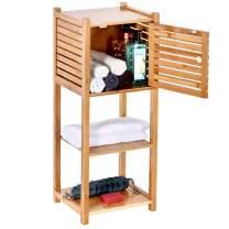 ToiletTree Products Bamboo Bathroom Storage Cabinet - Freestanding Wooden Organizer Shelf for Bathroom & Bedroom - 3-Tier Storage Multifunctional Cabinet
