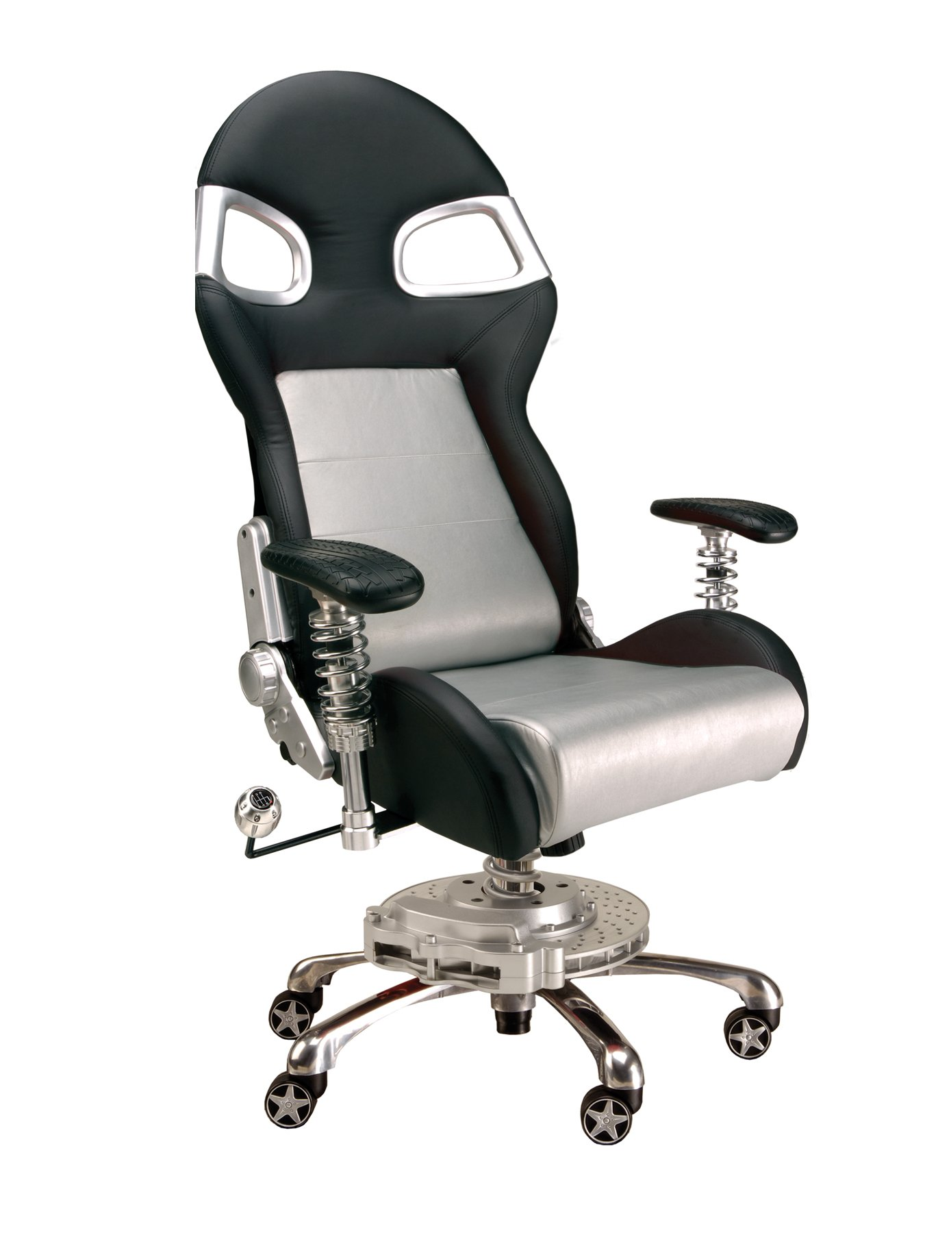 Pitstop Furniture F08000S LXE Office Chair, Silver