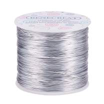 BENECREAT 20 Gauge 770FT Aluminum Wire Anodized Jewelry Craft Making Beading Floral Colored Aluminum Craft Wire - Silver