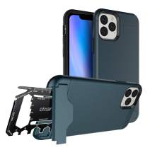 Olixar for iPhone 11 Pro Tough Case - with 26 in 1 Survival Multi Tool - Protective Armour Cover - Credit Card Slot & Built in Stand - X-Ranger - Blue