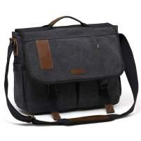 Mens Messenger Bag Canvas 15.6 Inch Laptop Shoulder Bag Water Resistant Briefcase Satchel Bag VONXURY