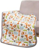 """COOSEY HOME Breathable Baby Blanket Safari Print Fleece Best Registry Gift for Newborn Soft- Perfect for Prince and Princess 30"""" x 40"""" (Safari)"""