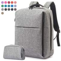 Travel Laptop Business Backpack, Anti Theft Water Resistant School Computer Bagpack Gifts for Men & Women,Fits 15.6 Inch Notebook with USB Charging Port Bonus a Small pencil Case, Light gray