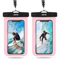 """JOTO Universal Waterproof Pouch, IPX8 Waterproof Cellphone Dry Bag Underwater Case for iPhone 11 Pro Max Xs Max XR X 8 7 6S+ SE 2020, Galaxy S20 Ultra S10 S9 S8/Note10+ 9 up to 6.9"""" -2 Pack,Clearpink"""