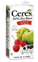 Ceres 100% All Natural Pure Fruit Juice Blend, Secrets of the Valley - Gluten Free, Rich in Vitamin C, No Added Sugar or Preservatives, Cholesterol Free - 33.8 FL OZ (33.8 FL OZ,Pack - 12)