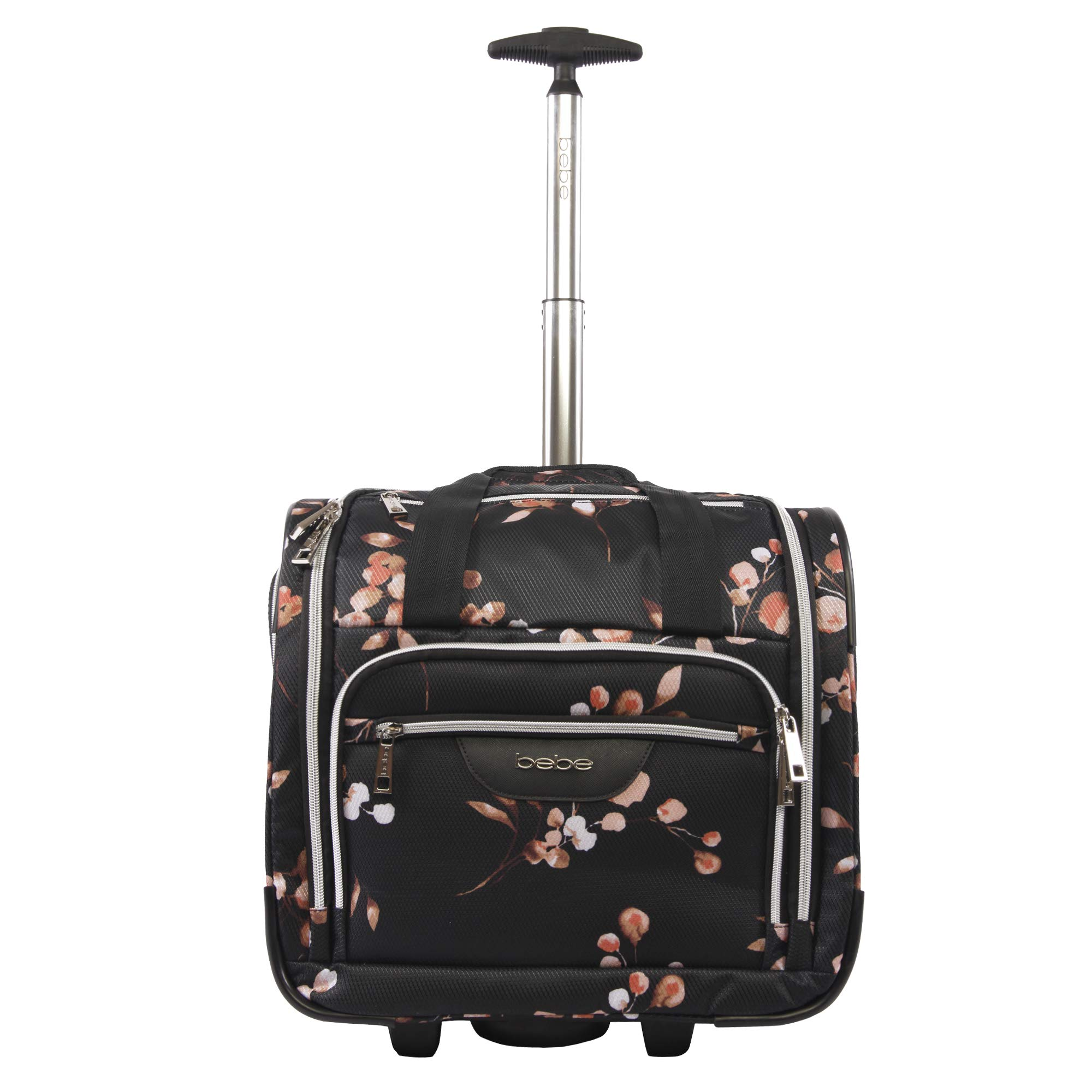 BEBE Women's Valentina-Wheeled Under The Seat Carry-on Bag, Floral BRANCH