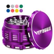 "VIVOSUN 2.5"" 4 Pieces Herb Grinder Aluminium Spice Grinder with Pollen Scraper Purple"
