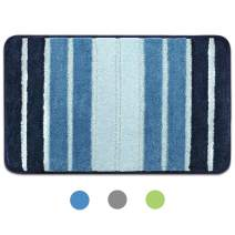 Bath Rug, Door Mat, Soft and Absorbent Bathroom Mat, Machine Wash/Dry, Anti-Slip and Plush Bath Mat for Bathroom, Living Room and Laundry Room(15.7x23.6, Blue)
