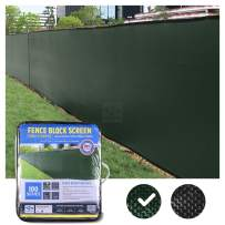 FenceScreen 8ft x 50ft Green Fence Privacy Screen - Extreme 98% Blockage Windscreen Mesh Fence Cover