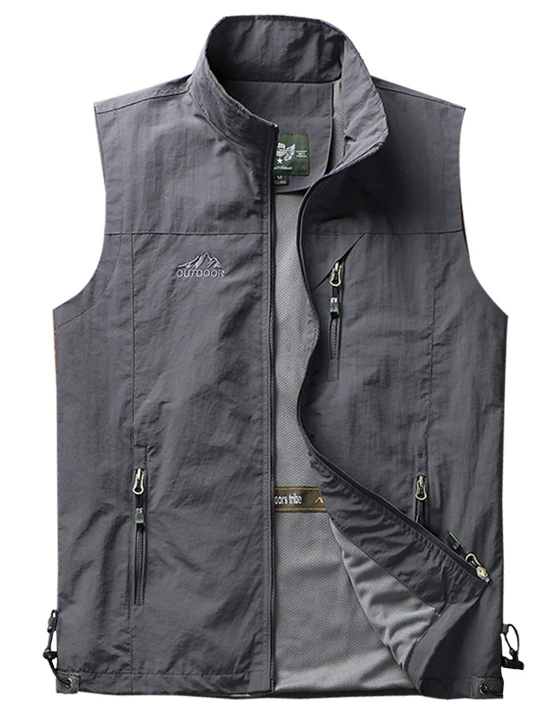 Yimoon Men's Safari Travel Vest Outdoor Lightweight Fishing Photo Vest