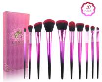 Makeup Brush Sets - 10 Pcs Makeup Brushes for Foundation Eyeshadow Eyebrow Eyeliner Blush Powder Concealer Contour