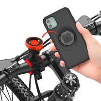 Bike Motorcycle Phone Mount with iPhone 11 Case Built Quick Mount and Intergrated Ultra-Lock 360 Rotation Adjustable Handlebars Phone Holder for Bike MTB Mountain Bike Road Bike Bicycle Cycling