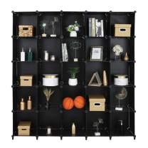 VINGLI 25 Cube Storage Organizer Closet Storage Shelves, DIY Wire Cube Modular Bookcase Storage, Plastic Closet Cabinet, Ideal for Living Room Bedroom, Home, Office