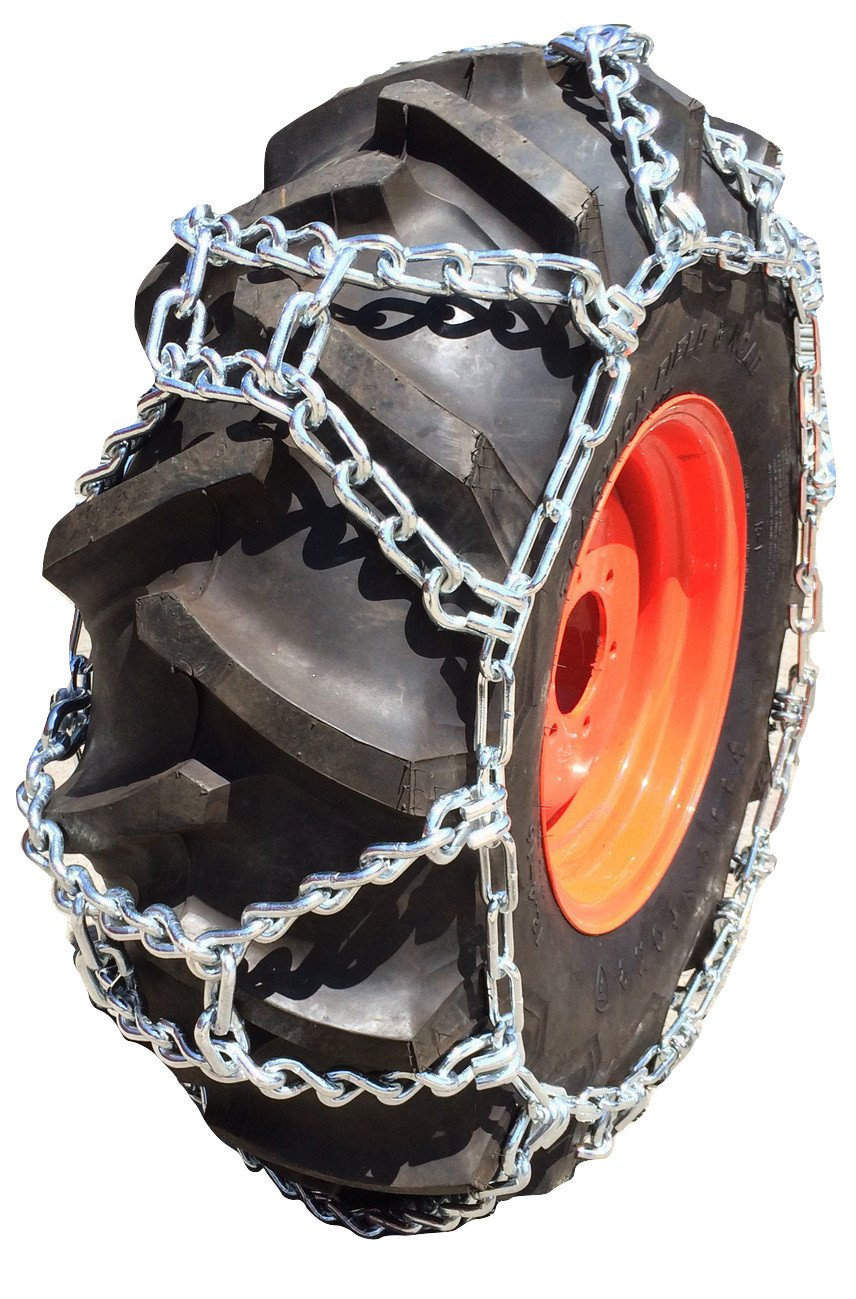 TireChain.com Compatible with Mahindra 4540 2WD AG R1 Rear 9.5-36, 9.5-38, 11.2-32, 12.4-28 Duo Grip Duo Grip Tire Chains