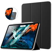 TiMOVO Cover Compatible for iPad Pro 11 Inch 2018 Case, Strong Magnetic Slim Lightweight Trifold Minimalist Stand Smart Cover Case with Auto Sleep/Wake Fit iPad Pro 11-inch 2018, Black