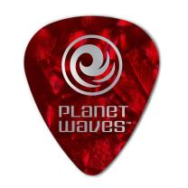 Planet Waves Red Pearl Celluloid Guitar Picks, 25 pack, Medium