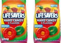 LIFE SAVERS Hard Candy 5 Flavors, 50-Ounce Party Size Bag. 2-Pack