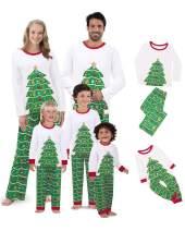 BIUBIU Matching Family Christmas Pajamas Boys Girls Deer Pjs Toddler Kids Children Sleepwear Women Men Pajamas