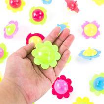 Super Z Outlet Mini Hand Finger Spinner Tops Twisting Plastic Flower Prize Toys for Children Birthday Party Favors (36 Pack)