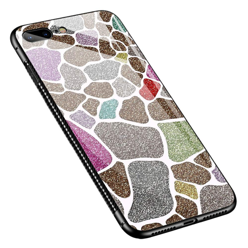 iPhone SE 2020 Case,Tempered Glass iPhone 8 Case, Color Marble iPhone 7 Case for Girls [Anti-Scratch] Fashion Cute Cover Case for iPhone 7/8/SE2 4.7-inch Color Marble