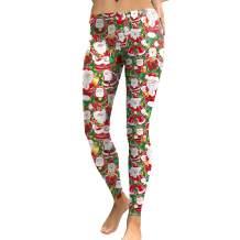 AICHESON Ugly Holiday Leggings Womens High Waist Pants 3D Print Paddy Pants
