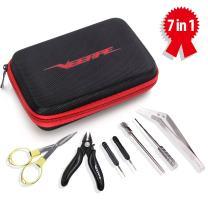 VEEAPE DIY Tool Kit, Ceramics Tweezers/Set/Plier/Brush/Folding Scissors/Cross-Screwdriver/Flathead Screwdriver with a Zipper Bag