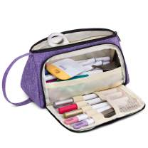 Luxja Bag for Cricut Pen Set and Basic Tools, Carrying Case for Cricut Accessories (Bag Only), Purple