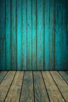 AOFOTO 3x5ft Old Blue Wood Plank Backdrop with Floor Vintage Wooden Board Panels Wall Grunge Hardwood Fence Photography Background Baby Infant Newborn Kid Boy Girl Portrait Photo Shoot Props Vinyl