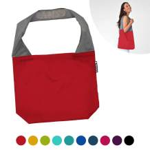 FLIP AND TUMBLE 24-7 Premium Reusable Grocery Bag - perfect Shopping Bag, Beach Bag, Travel Bag, Red