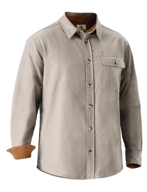 Naviskin Men's Thermal Flannel Shirt Long Sleeve Button Down Plaid Shirt Outdoor Wear