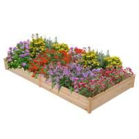 Topeakmart Raised Garden Bed Kit Planter Boxes Outdoor Wood Planter Box Patio Yard Grow Gardening Vegetables Flower Planting
