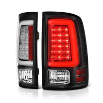 VIPMOTOZ For 2013-2018 RAM 1500 2500 3500 LED Model Black Bezel OLED Neon Tube LED Tail Light Brake Lamp Housing Assembly Replacement Driver & Passenger Side