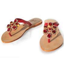 Gorgeous Jeweled Genuine Leather Shoes Pasha, Style Tasmania
