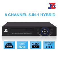 JZTEK 8ch 1080N Hybrid 5-in-1 AHD DVR (1080P NVR+1080N AHD+960H Analog +TVI+CVI) CCTV 8 Channel Standalone dvr Quick QR Code Scan w/Easy Remote View Home Security Surveillance Camera System