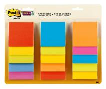 Post-it Super Sticky Notes, 2x Sticking Power, 3 in x 3 in, Assorted Colors, 15 Pads/Pack, 45 Sheets/Pad (654-15SSMULTI)