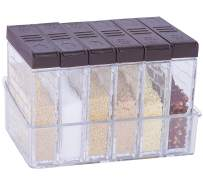 Spice Shaker Jars Seasoning Storage Containers with Tray Transparent Seasoning Shaker Box with Lid Set