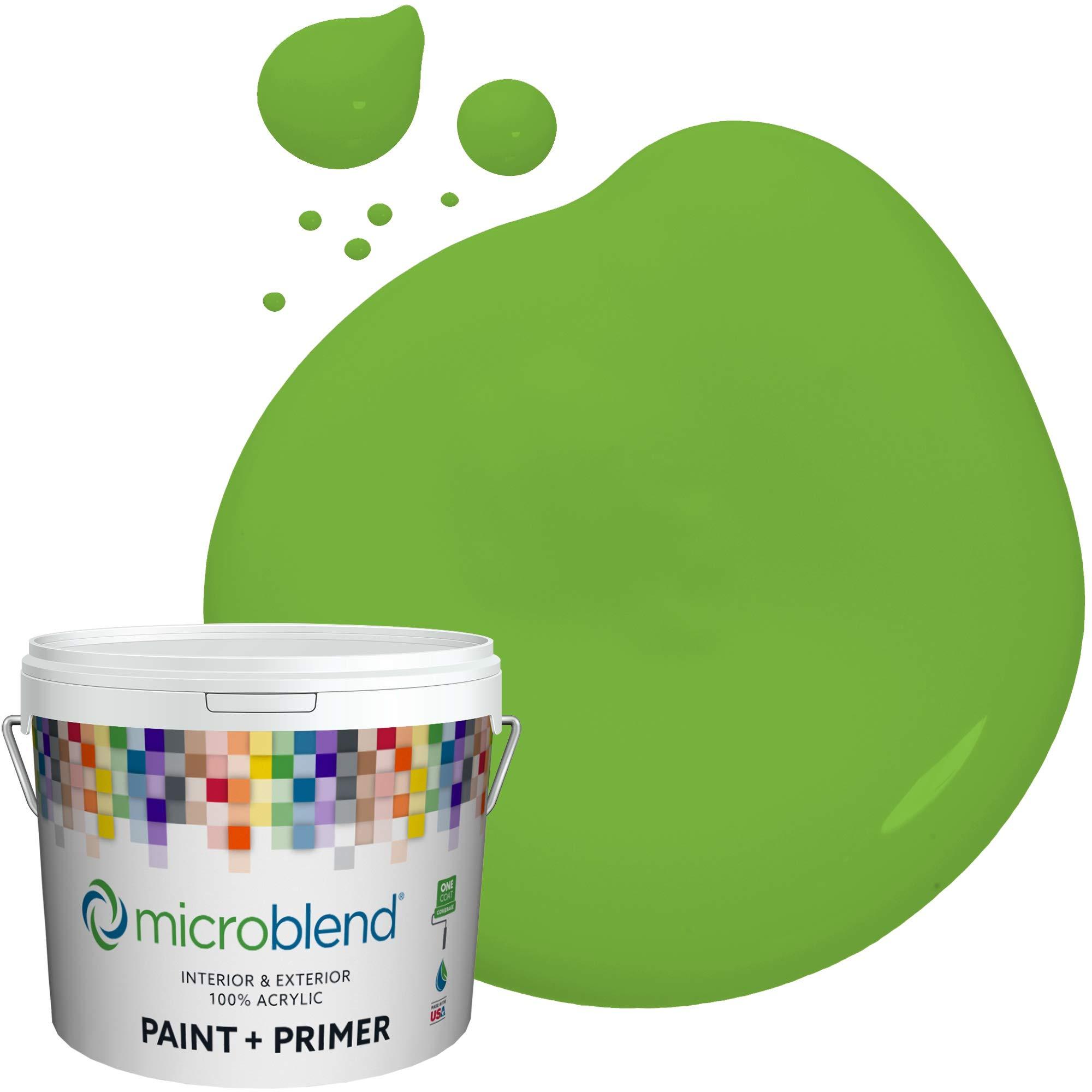 MicroBlend Interior Paint + Primer, Fresh Cut Grass, Semi-Gloss Sheen, 1 Gallon, Custom Made, Premium Quality One Coat Hide & Washable Paint