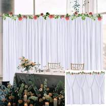White Tulle Backdrop Curtain for Wedding Baby Shower Birthday Party Bridal Shower Photo Booth Gender Reveal Backdrop Background Decoration 2 Panels 5 ft X 7 ft