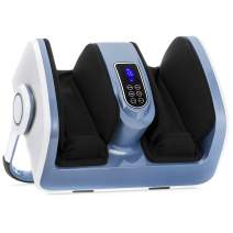 Best Choice Products Air Compression Reflexology Shiatsu Calf Foot Therapeutic Massager w/Heat, High-Intensity Rollers