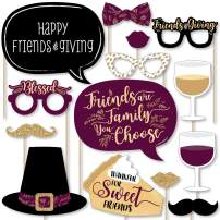 Big Dot of Happiness Elegant Thankful for Friends - Friendsgiving Thanksgiving Party Photo Booth Props Kit - 20 Count